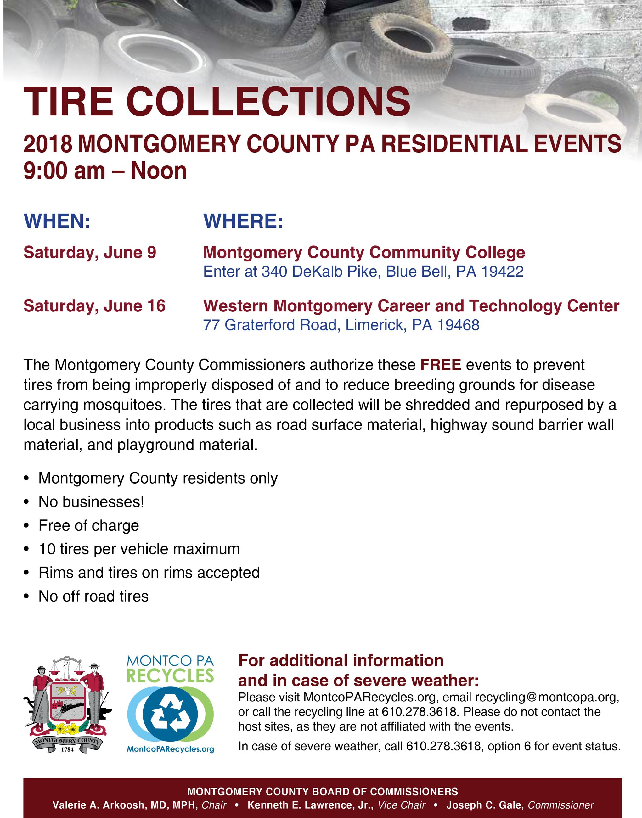 2018 County Tire Collection Events