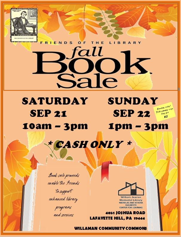 WJML Fall Book Sale 2019