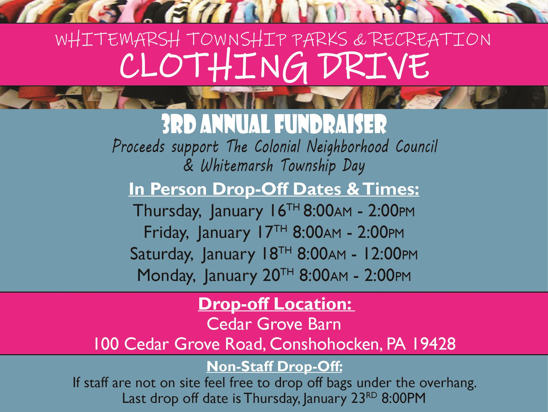 2020 Clothing Drive Fundraiser Event Flyer Thumbnail