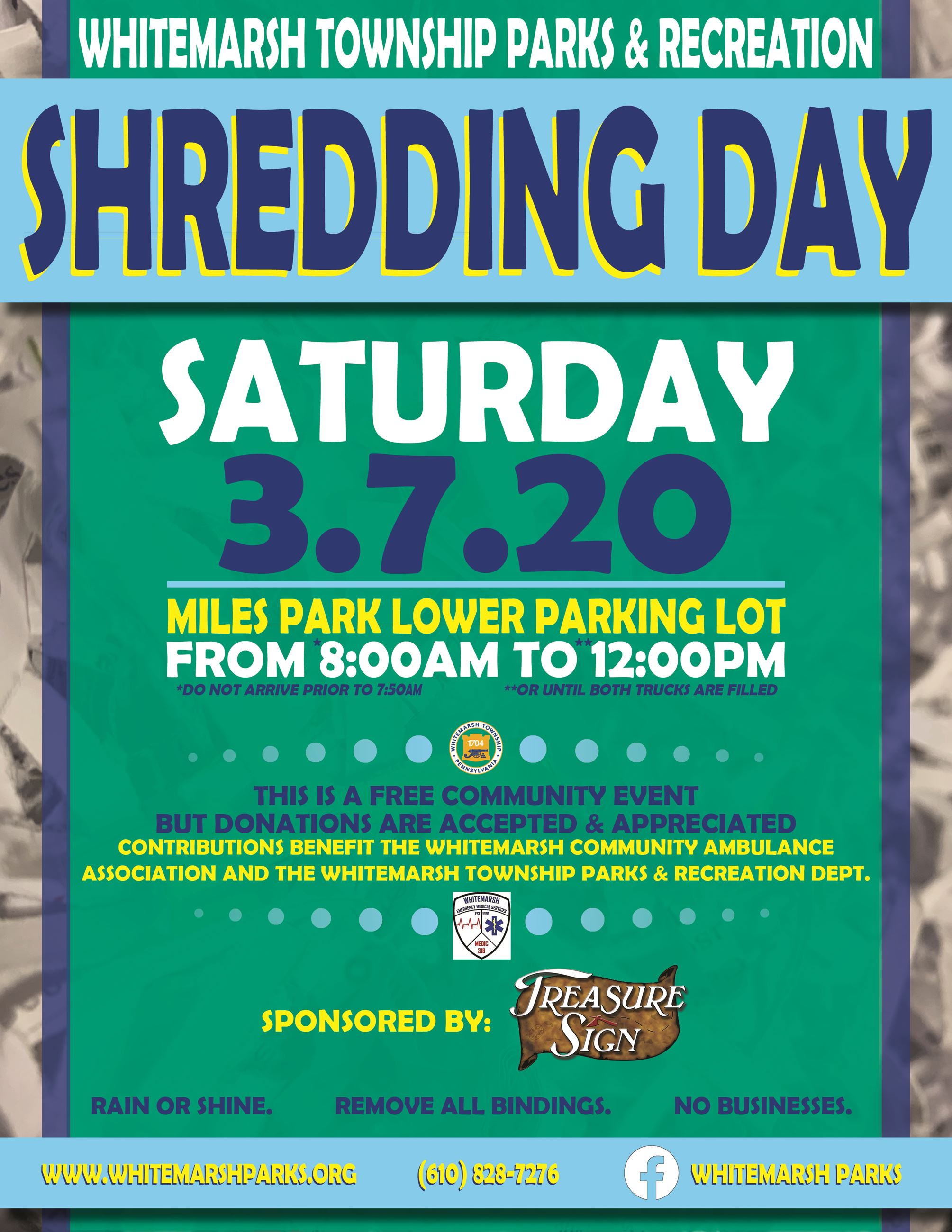 Shredding Day Flyer - Spring 2020